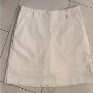 White Nike golf skirt